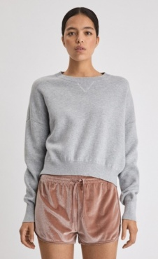 FilippaK Double Knit Sweater - Light Grey Marl