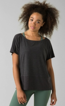 PrAna Kaila Short Sleeve - Charcoal