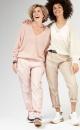 10Days V-neck Sweater - Light Pink Melee - 4