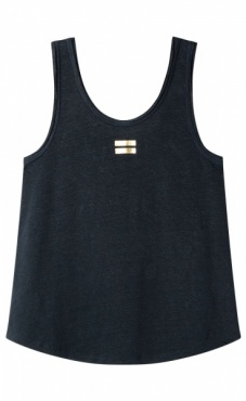10Days Linen Top - Dark Blue-grey
