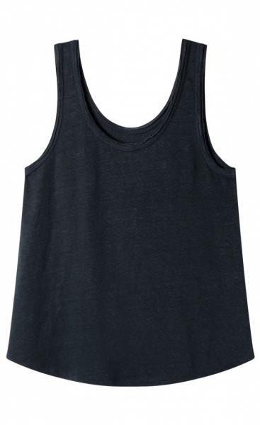 !0Days Linen Top - Dark Blue-grey - 1