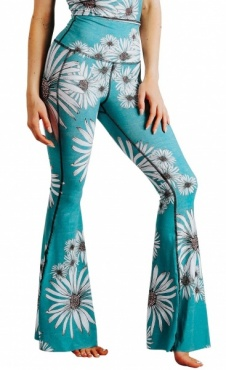 Recycled Bell Bottoms Flower Child