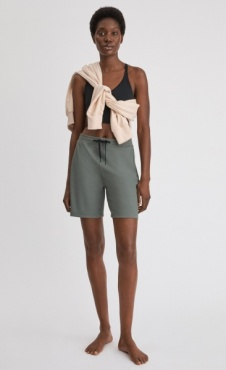 Filippa K Ribbed Jersey Short - Green Grey