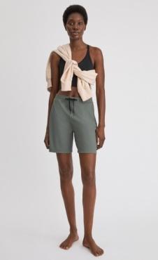Filippa K Ribbed Jersey Short - Green Grey