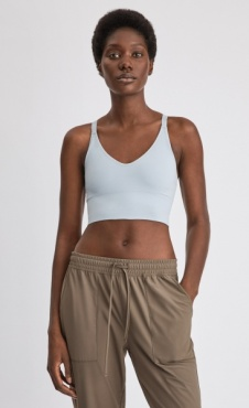 Filippa K Crossback seamless Midi Top Cloud