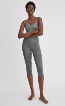 Filippa K Cropped Seamless Legging Green Grey