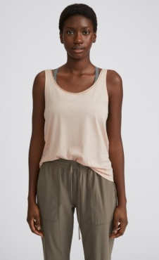 FilippaK Flow Deep Back Tank Powder Beige