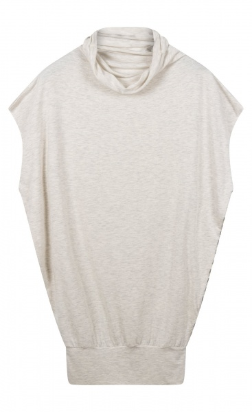 10Days Soft High Neck Top - Soft White Melee