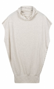 10Days Soft High Neck Top - Soft White Melee
