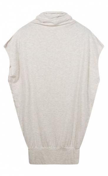 10Days Soft High Neck Top - Soft White Melee - 1