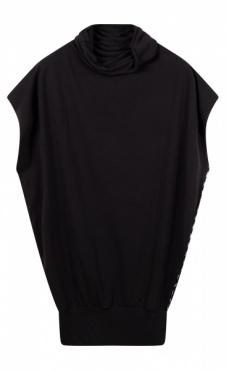10Days Soft High Neck Top - Black