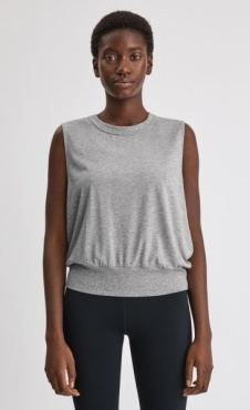 Filippa K Cool Down Top - Light Grey Marl