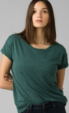 PrAna Cozy Up Tee - Peacock Heather