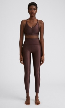 FilippaK Cropped Gloss Legging - Maroon