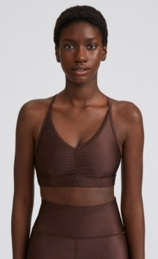 Filippa K  Gloss Bra Top - Maroon