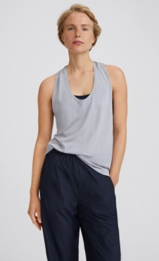 Filippa K Twist Layer Tank - Silver Grey