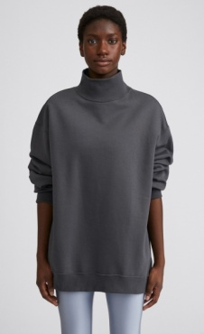 Filippa K Oversized Brushed Sweatshirt - Metal