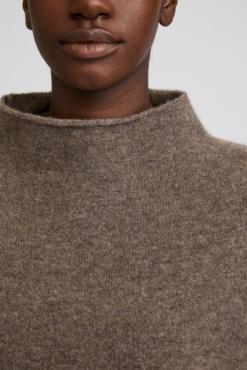 Filippa K Mika Yak Funnelneck Sweater - Dark Taupe