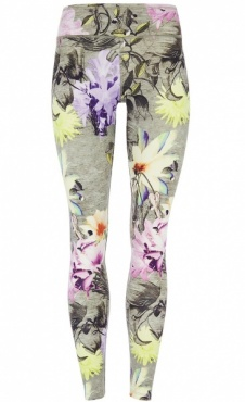 Natural Printed Legging Orchid