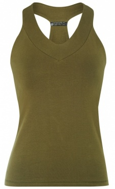 V-Neck Top - Forest