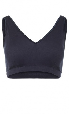 Ribbed V-Neck Bra