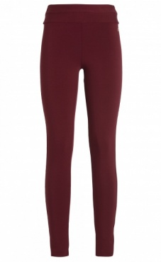 Basic High Waist Legging - Deep Red