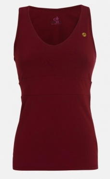 Twisted Back Tank Top - Deep Red
