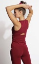 Twisted Back tank Top - Deep Red - 2