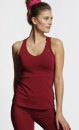 Twisted Back tank Top - Deep Red - 3