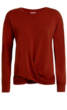 Twisted Sweatshirt - Deep Red