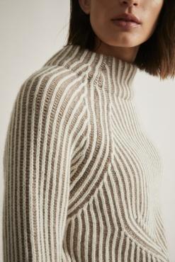 Lanius 2-tone Rib Pullover
