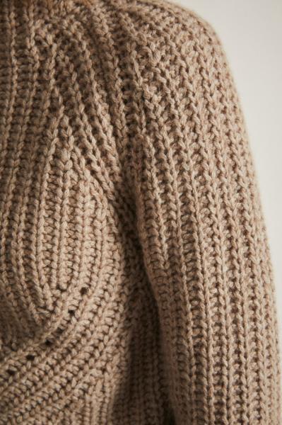 Lanius Soft Rib Pullover - Natural Melange - 1