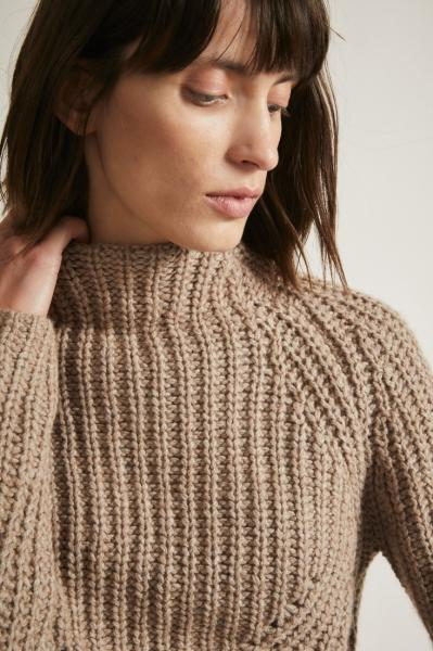 Lanius Soft Rib Pullover - Natural Melange - 2