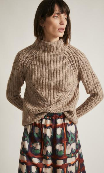 Lanius Soft Rib Pullover - Natural Melange - 3