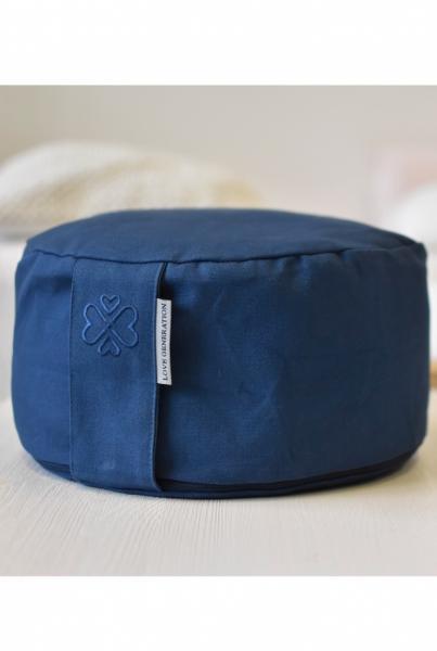 Love Generation Meditation Cushion - Denim Blue - 1
