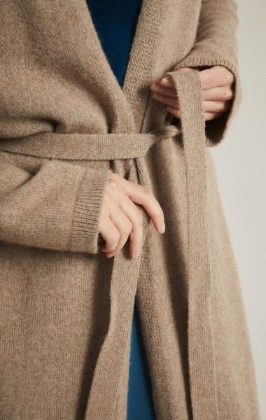 Lanius Merino Knit Coat - Natural Melange - 2