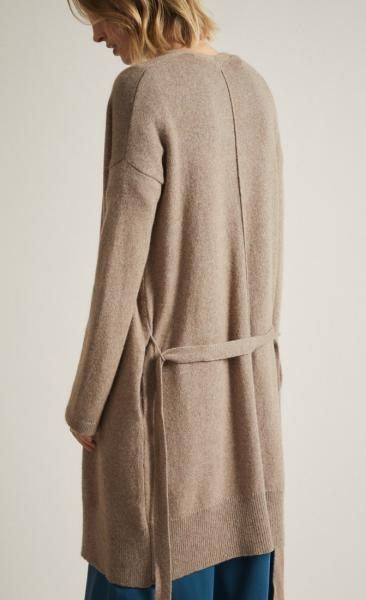 Lanius Merino Knit Coat - Natural Melange - 3