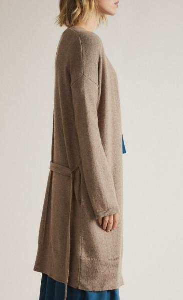Lanius Merino Knit Coat - Natural Melange - 4