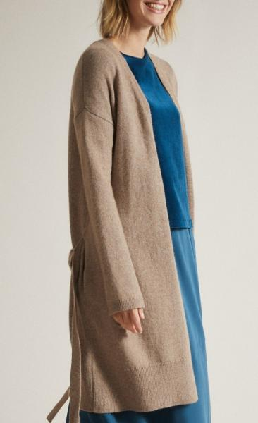 Lanius Merino Knit Coat - Natural Melange - 5