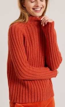 Lanius Rib Knit Col Pullover - Copper