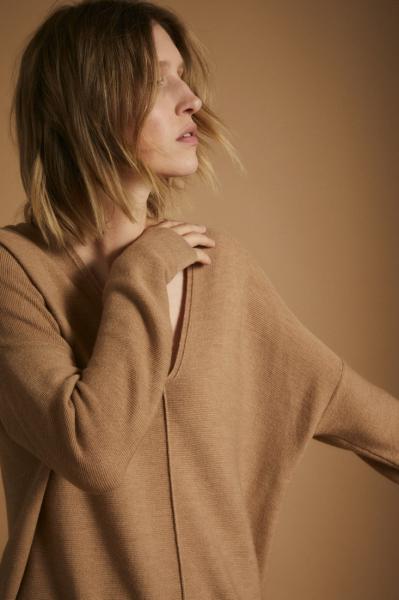 Lanius Merino Knit Tunic - Camel melange - 4
