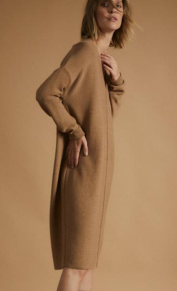 Lanius Merino Knit Tunic - Camel melange - 5