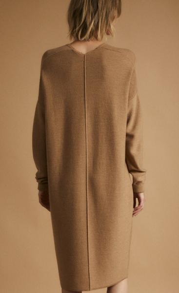 Lanius Merino Knit Tunic - Camel melange - 6