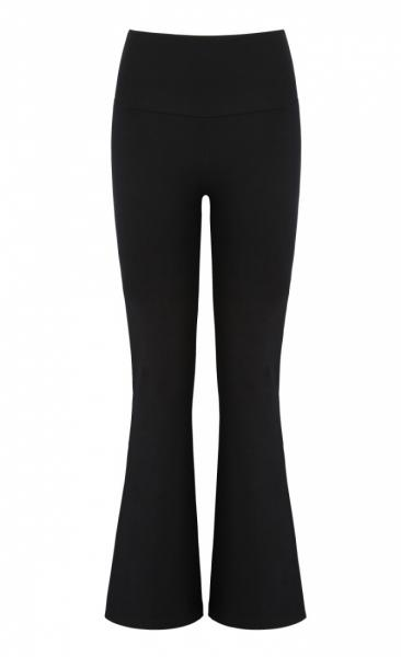 Asquith Extra Long Flared Pants - Black - 1