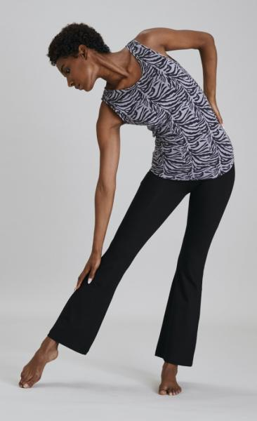 Asquith Extra Long Flared Pants - Black - 7