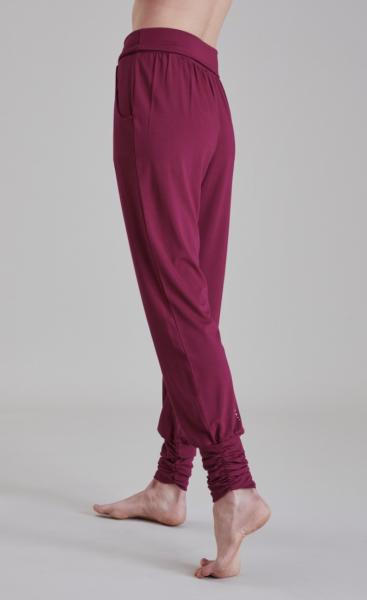 Long Harem Pants - Beetroot - 1