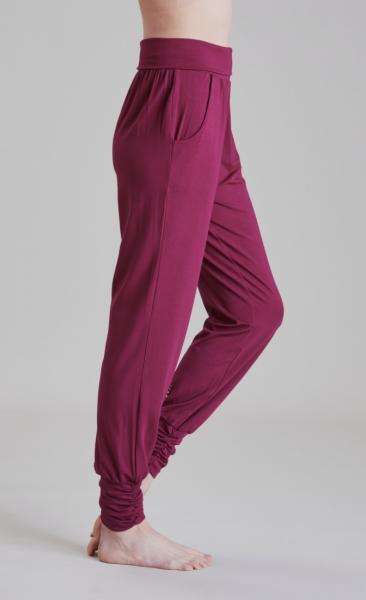 Long Harem Pants - Beetroot - 2