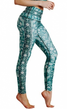 Mint To Be Recycled Printed Yoga Leggings