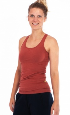 Racer Back Yoga Top - Burnt Orange