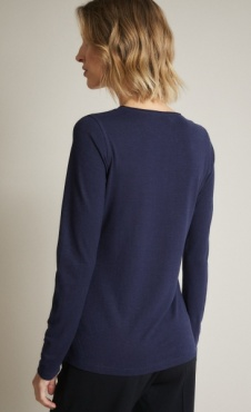 Lanius Cotton-Hemp Longsleeve - Night Blue